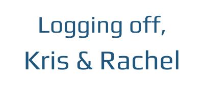 Logging off, Kris & Rachel | DoublexJump.com